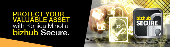 Protect your valuable asset with Konica Minolta bizhub secure from The Swenson Group