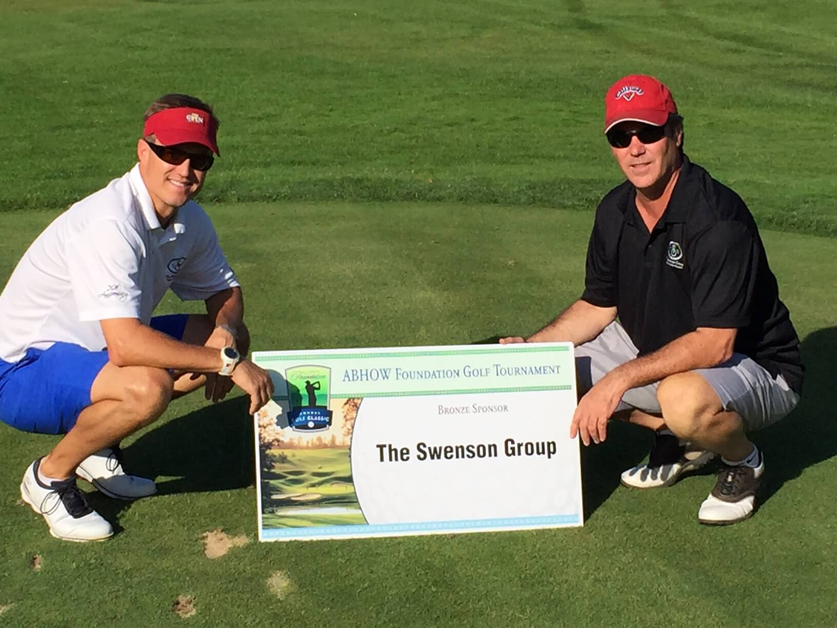 Dean & Jeff Swenson at ABHOW Foundation Golf Tournament