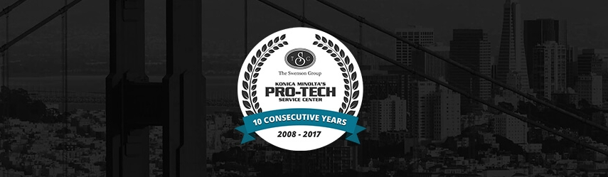The Swenson Group Selected Pro-Tech Service Award Recipient for 10th Year in a Row