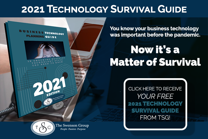 2021 Technology Survival Guide with text. You know your business technology was important before the pandemic.